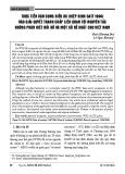 Thực tiễn vận dụng điều XX (Hiệp định GATT 1994) vào giải quyết tranh chấp liên quan tới nguyên tắc không phân biệt đối xử và một số đề xuất cho Việt Nam