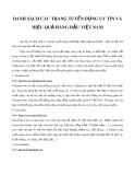 Danh sách các trang tuyển dụng uy tín, hiệu quả hàng đầu Việt Nam