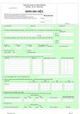 Đơn xin việc (Mẫu Excel)