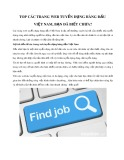 Top các trang web tuyển dụng hàng đầu Việt Nam
