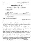Hợp đồng thử việc (Mẫu số 2)