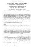 Truyền dẫn của chính sách tiền tệ đến tăng trưởng kinh tế ở Việt Nam