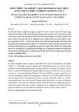Phát triển tài chính và bất bình đẳng thu nhập - bằng chứng thực nghiệm tại Đông Nam Á