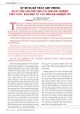 Áp dụng kế toán ABC trong quản trị chi phí cho các doanh nghiệp Việt Nam - bài học từ các doanh nghiệp Mỹ