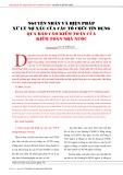 Nguyên nhân và biện pháp xử lý nợ xấu của các tổ chức tín dụng qua báo cáo kiểm toán của kiểm toán nhà nước