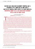 Đánh giá doanh nghiệp thông qua nghiên cứu mối quan hệ giữa quản lý dòng tiền mặt và lợi nhuận: Trường hợp của các doanh nghiệp xây lắp ở Việt Nam