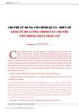 Chí phí sử dụng vốn bình quân - biến số kinh tế đo lường chính xác chi phí vốn trong phân tích CVP