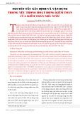 Nguyên tắc xác định và vận dụng trọng yếu trong hoạt động kiểm toán của kiểm toán nhà nước