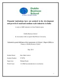 Master Thesis in Economics: Financial institutions have not assisted in the development and growth of small and medium scale industries in India
