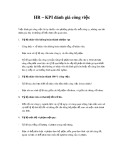 Chỉ số KPI về đánh giá công việc