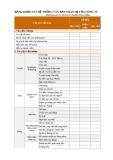 Mẫu Bảng khảo sát hệ thống văn bản nhân sự của công ty