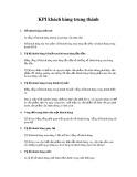 Chỉ số KPI về khách hàng trung thành