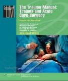 Trauma and acute care surgery with manual of the trauma (Fourth edition): Part 1