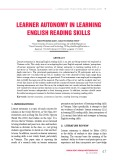 Learner autonomy in learning English reading skills