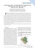 Cơ sở khoa học xác định phương pháp phân bổ nguồn nước mặt trên lưu vực sông Vu Gia - Thu Bồn