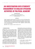 An investigation into students' engagement in English speaking activities at political academy