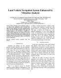 Land vehicle navigation system enhanced by vibration analysis