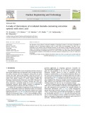 A study of thermolysis of irradiated diamide-containing extraction systems with nitric acid