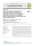 Study of the changes in composition of ammonium diuranate with progress of precipitation, and study of the properties of ammonium diuranate and its subsequent products produced from both uranyl nitrate and uranyl fluoride solutions