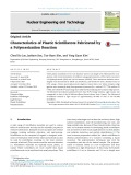 Characteristics of plastic scintillators fabricated by a polymerization reaction