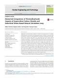 Numerical comparison of thermalhydraulic aspects of supercritical carbon dioxide and subcritical water based natural circulation loop