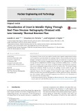 Visualization of crust in metallic piping through real time neutron radiography obtained with low intensity thermal neutron flux