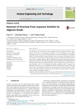 Removal of uranium from aqueous solution by alginate beads