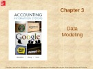 Lecture Accounting information systems: Chapter 3 - Richardson, Chang, Smith