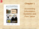 Lecture Accounting information systems: Chapter 1 - Richardson, Chang, Smith