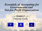 Lecture Essentials of accounting for governmental and not-for-profit organizations (12/e) – Chapter 7: Fiduciary funds