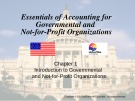 Lecture Essentials of accounting for governmental and not-for-profit organizations (12/e) – Chapter 1: Introduction to governmental and not-for-profit organizations