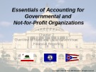 Lecture Essentials of accounting for governmental and not-for-profit organizations (12/e) – Chapter 2: Overview of state and local government financial reporting