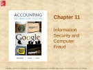 Lecture Accounting information systems: Chapter 11 - Richardson, Chang, Smith