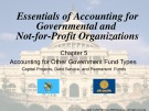 Lecture Essentials of accounting for governmental and not-for-profit organizations (12/e) – Chapter 5: Accounting for other government fund types