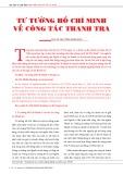Tư tưởng của Hồ Chí Minh về công tác thanh tra