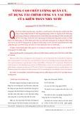 Nâng cao chất lượng quản lý, sử dụng tài chính công và vai trò của kiểm toán nhà nước