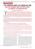 Các phương pháp xác định giá trị doanh nghiệp khi cổ phần hóa và những vấn đề đặt ra