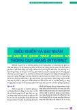 Điều khiển và ghi nhận dữ liệu hệ quan trắc phóng xạ thông qua mạng internet