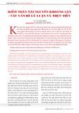 Kiểm toán tài nguyên khoáng sản - các vấn đề lý luận và thực tiễn