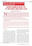 Quản trị tài chính trường đại học công lập trong điều kiện tự chủ: Kinh nghiệm quốc tế và bài học cho Việt Nam