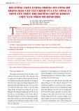 Đo lường chất lượng thông tin công bố trong báo cáo tài chính của các công ty niêm yết trên thị trường chứng khoán Việt Nam theo mô hình EBO