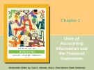 Lecture Principles of accounting (2005): Chapter 1 - Needles, Powers, Crosson