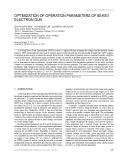 Optimization of operation parameters of 80 kev electron gun