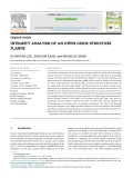 Integrity analysis of an upper guide structure flange