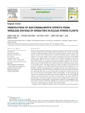 Verification of electromagnetic effects from wireless devices in operating nuclear power plants