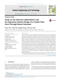 Study on the structure optimization and the operation scheme design of a double tube once through steam generator