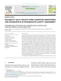 Reliability data update using condition monitoring and prognostics in probabilistic safety assessment