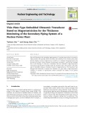 Thin plate type embedded ultrasonic transducer based on magnetostriction for the thickness monitoring of the secondary piping system of a nuclear power plant