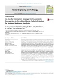 On the fly estimation strategy for uncertainty propagation in two step monte carlo calculation for residual radiation analysis