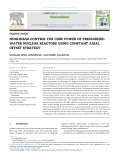Nonlinear control for core power of pressurized water nuclear reactors using constant axial offset strategy